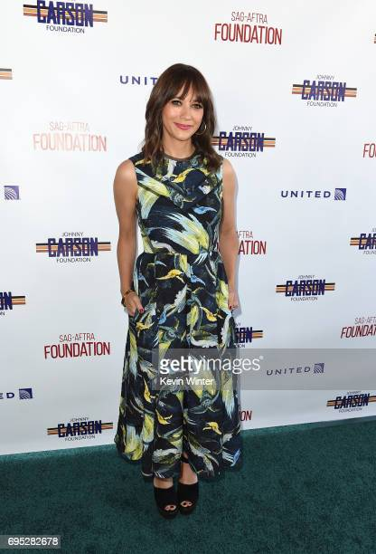 Actor Rashida Jones attends the SAGAFTRA Foundation 8th Annual LA Golf Classic Fundraiser at Lakeside Golf Club on June 12 2017 in Los Angeles...