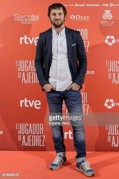 Actor Raul Arevalo attends the 'El Jugador de Ajedrez' photocall at Gran Via cinema on April 25 2017 in Madrid Spain