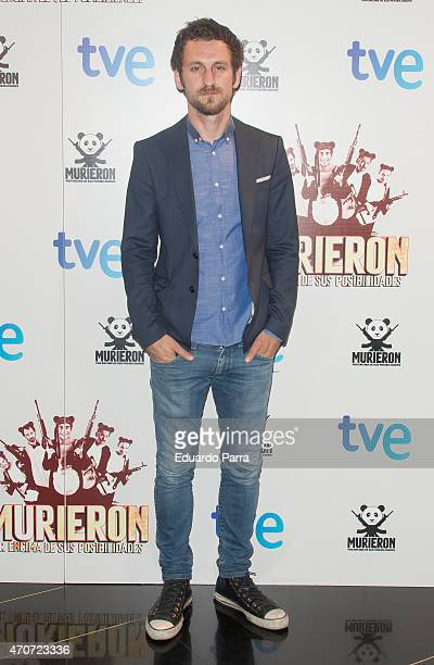 Actor Raul Arevalo attends the 'Murieron por encima de sus posibilidades' premiere at Palacio de la Prensa cinema on April 22 2015 in Madrid Spain