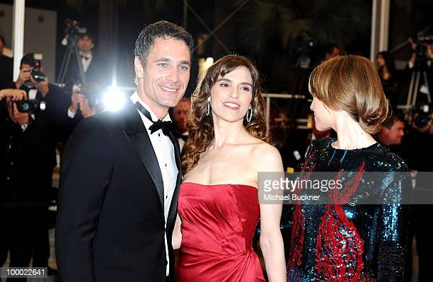 Actor Raul Bova and Stefania Montorsi attends the 'Our Life' Premiere at the Palais des Festivals during the 63rd Annual Cannes Film Festival on May...