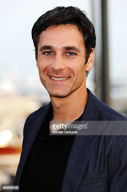 Actor Raul Bova attends the Fair Game Cocktail Party hosted by Giorgio Armani held aboard his boat 'Main' during the 63rd Annual International Cannes...