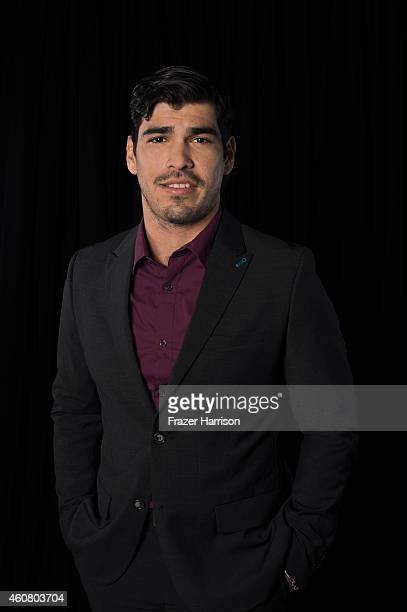 Actor Raul Castillo poses for a portrait at Logo TV's NewNowNext Awards on December 2 2014 at Kimpton Surfcomber Hotel in Miami Beach Florida