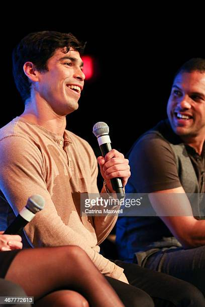 Actor Raul Castillo speaks at a panel discussion during the aTVfest on February 7 2014 in Atlanta Georgia