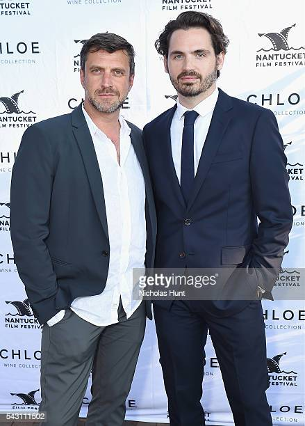 Actor Raul Esparza and Festival Producer Bill Curran attend the Screenwriters Tribute at the 2016 Nantucket Film Festival Day 4 on June 25 2016 in...