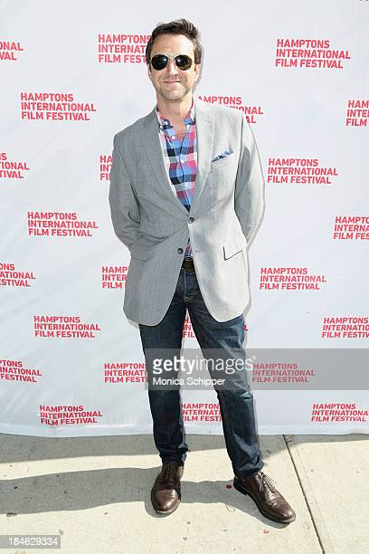 Actor Raul Esparza attends the 21st Annual Hamptons International Film Festival Closing Day on October 14 2013 in East Hampton New York