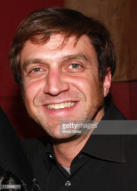 Actor Raul Esparza poses backstage at 'The Homecoming' on Broadway at The Cort Theater on February 7 2008 in New York City