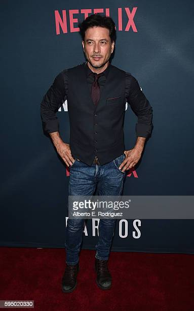 Actor Raul Mendez attends the Season 2 premiere of Netflix's 'Narcos' at ArcLight Cinemas on August 24 2016 in Hollywood California