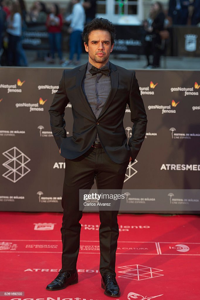 Actor Raul Pena attends 'Koblic' premiere at the Cervantes Teather during the 19th Malaga Film Festival on April 29, 2016 in Malaga, .