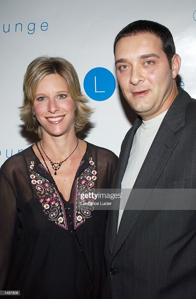 Actor Ray Franza (R) and his wife arrive at the launch of the book 'Who's Sorry Now' by Joe Pantoliano at the GQ Lounge September 28, 2002, in New York City.
