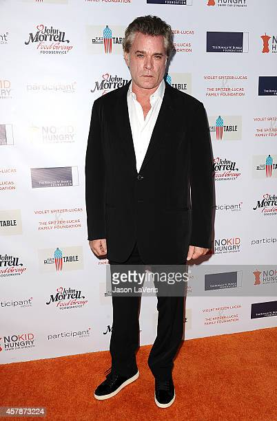 Actor Ray Liotta attends the No Kid Hungry campaign fundraising dinner at Ron Burkle's Green Acres Estate on October 25 2014 in Beverly Hills...
