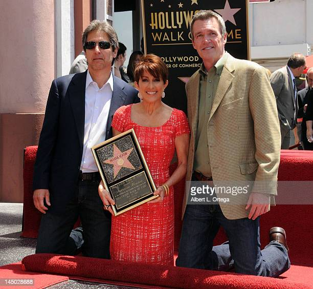 Actor Ray Roman actress Patricia Heaton and actor Neil Flynn at the Hollywood Walk Of Fame ceremony honoring Patricia Heaton on May 22 2012 in...
