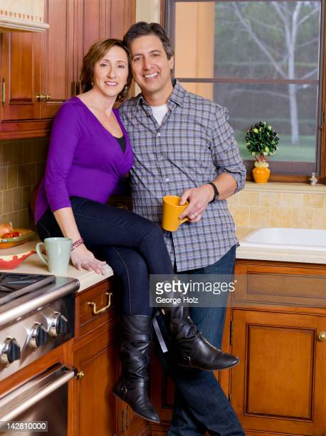 Actor Ray Romano and wife Anna are photographed for People Magazine at home on January 24 2012 in Los Angeles California ON EMBARGO UNTIL MAY 20 2012