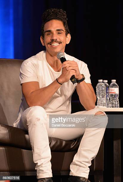 Actor Ray Santiago speaks onstage during Wizard World Comic Con Chicago 2016 Day 3 at Donald E Stephens Convention Center on August 20 2016 in...
