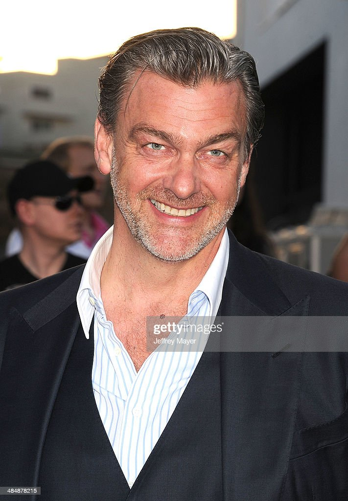 Actor Ray Stevenson arrives at the Los Angeles premiere of 'Divergent' at Regency Bruin Theatre on March 18 2014 in Los Angeles California