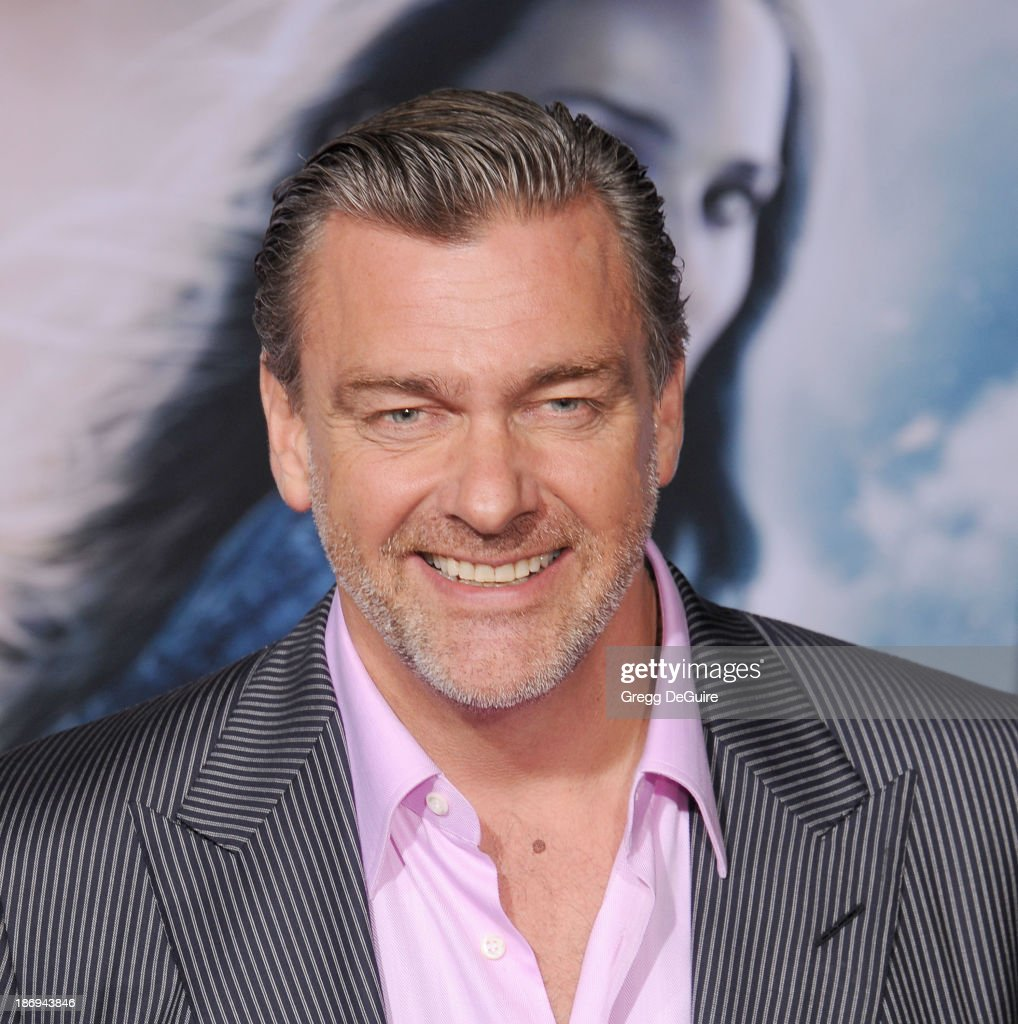 Actor Ray Stevenson arrives at the Los Angeles premiere of 'Thor The Dark World' at the El Capitan Theatre on November 4 2013 in Hollywood California
