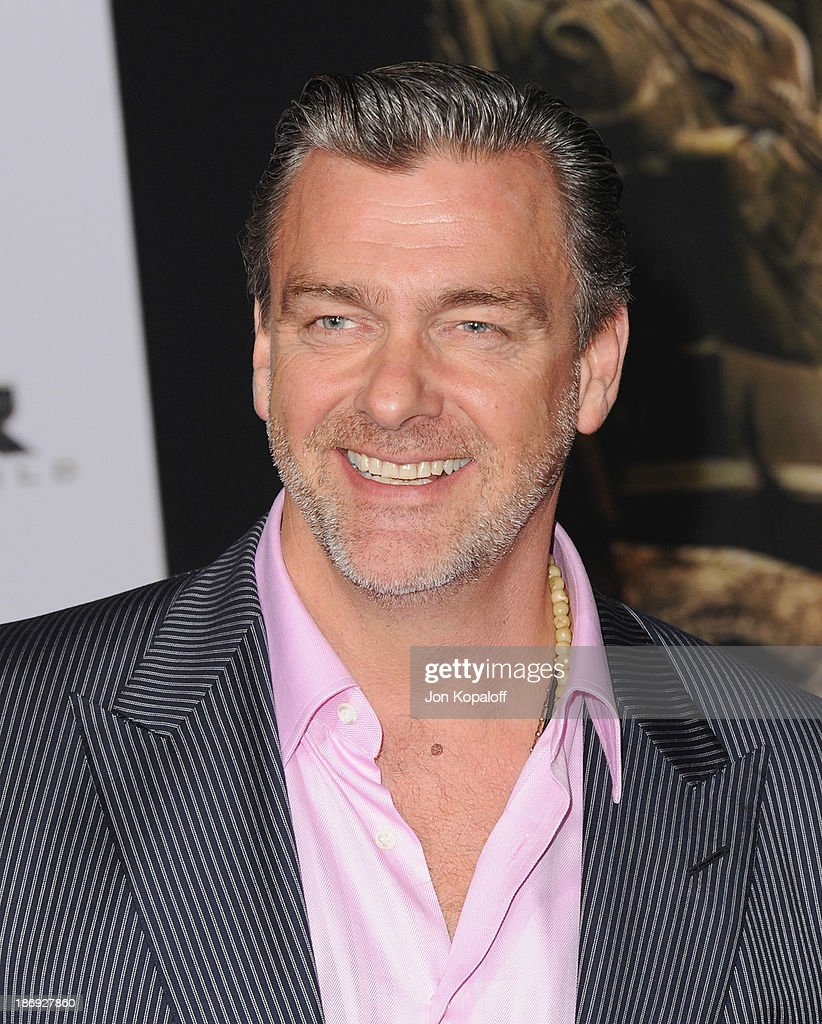 Actor Ray Stevenson arrives at the Los Angeles Premiere 'Thor The Dark World' at the El Capitan Theatre on November 4 2013 in Hollywood California