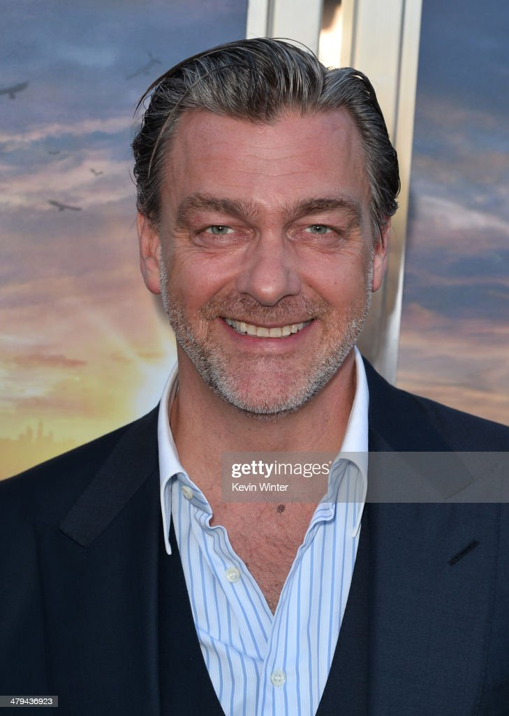 Actor Ray Stevenson arrives at the premiere of Summit Entertainment's 'Divergent' at the Regency Bruin Theatre on March 18 2014 in Los Angeles...