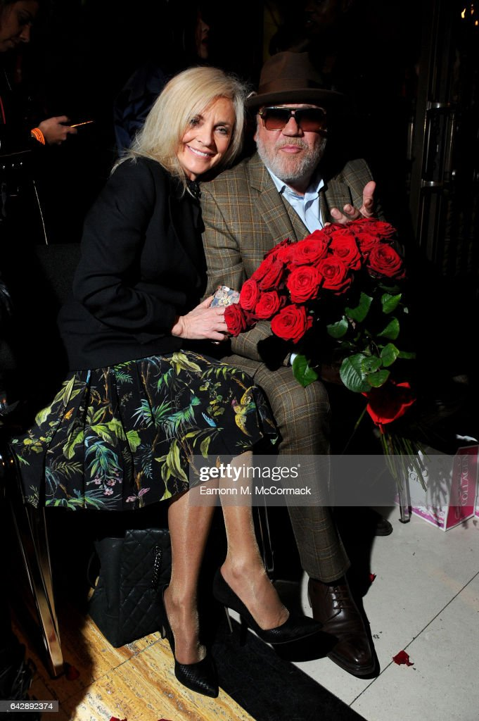 Actor Ray Winstone (R) and his wife Elaine Winstone attend the Pam Hogg show during the London Fashion Week February 2017 collections on February 19, 2017 in London, England.