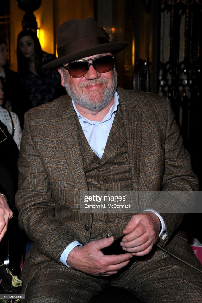 Actor Ray Winstone attends the Pam Hogg show during the London Fashion Week February 2017 collections on February 19, 2017 in London, England.