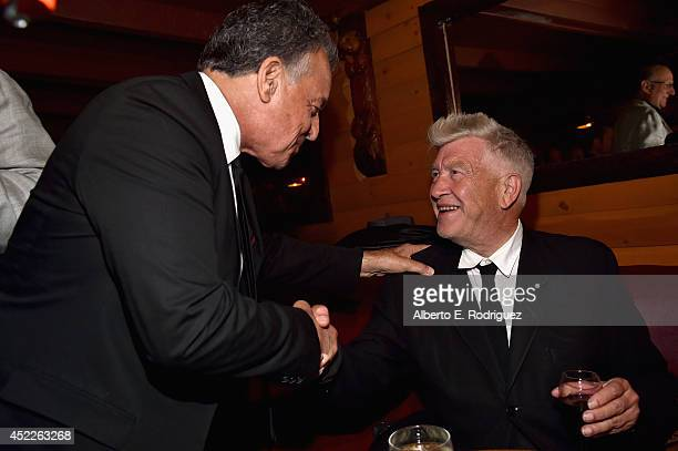 Actor Ray Wise and director David Lynch attend the after party for The American Film Institute Presents 'Twin PeaksThe Entire Mystery' BluRay/DVD...