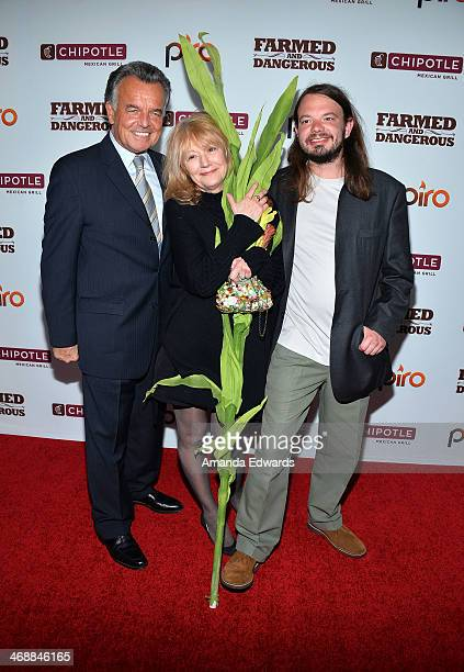 Actor Ray Wise his wife Kass McClaskey and their son Gannon McClaskey Wise arrive at the Chipotle World Premiere of web series 'Farmed And Dangerous'...