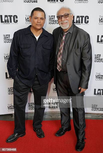 Actor Raymond Cruz and Artistic Director of the Latino Theater Company Jose Luis Valenzuela attend Opening Night Of Latino Theater Company's 'A...