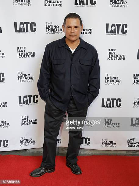 Actor Raymond Cruz attends Opening Night Of Latino Theater Company's 'A Mexican Trilogy An American Story' at The Los Angeles Theater Center on...