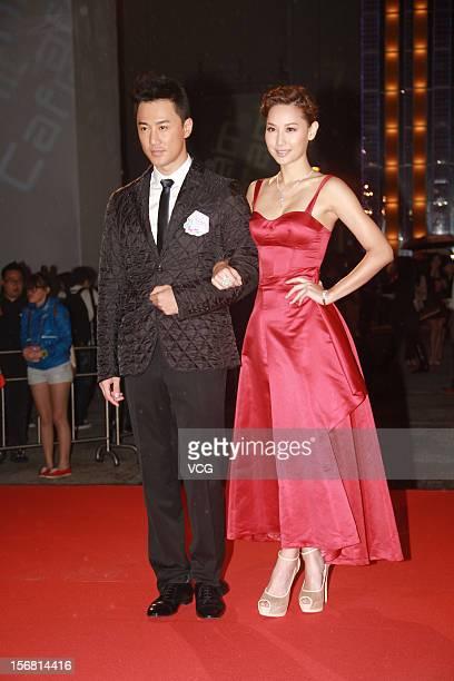Actor Raymond Lam and actress Kate Tsui attend TVB's 2013 Sales Presentation Event at TVB City on November 8 2012 in Hong Kong Hong Kong