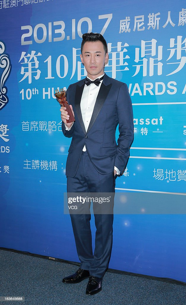 Actor <a gi-track='captionPersonalityLinkClicked' href=/galleries/search?phrase=Raymond+Lam&family=editorial&specificpeople=5670254 ng-click='$event.stopPropagation()'>Raymond Lam</a> attends the 2013 Huading Awards ceremony at The Venetian on October 7, 2013 in Macau, Macau.