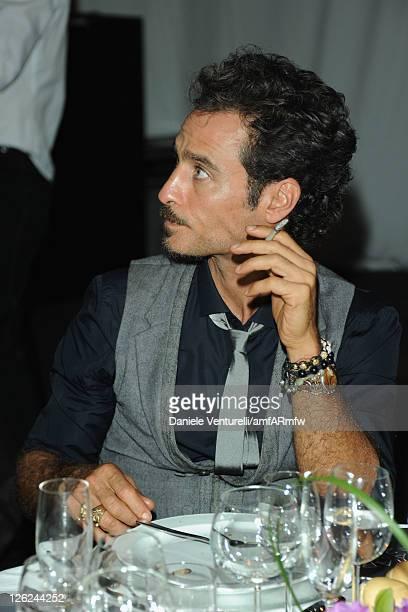 Actor Raz Degan attends amfAR MILANO 2011 at La Permanente on September 23 2011 in Milan Italy