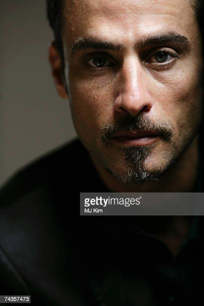 Actor Raz Degan poses for a portrait shoot while attending Cannes Film Festival on May 21 2007 in Cannes France