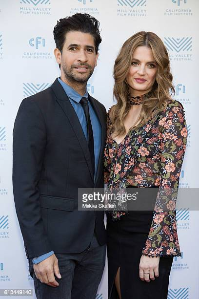 Actor Raza Jaffrey and actress Stana Katic arrive at the premiere of 'The Rendevouz' at the 39th Mill Valley Film Festival at Cinearts @ Sequoia on...