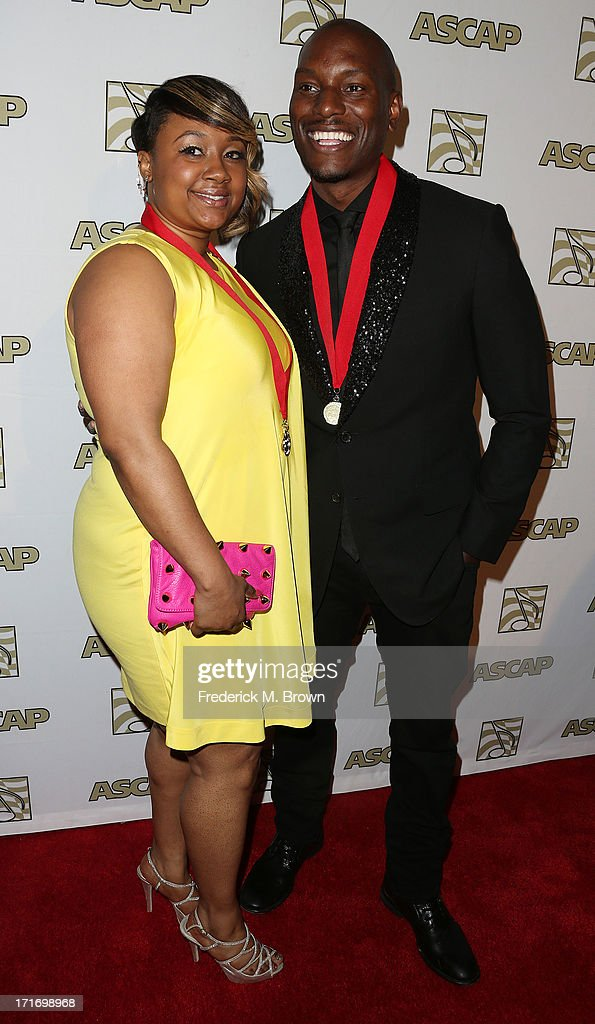Actor/ recording artist Tyrese Gibson (R) and his guest attend The American Society of Composers, Authors and Publishers (ASCAP) 26th Annual Rhythm & Soul Music Awards at The Beverly Hilton Hotel on June 27, 2013 in Beverly Hills, California.