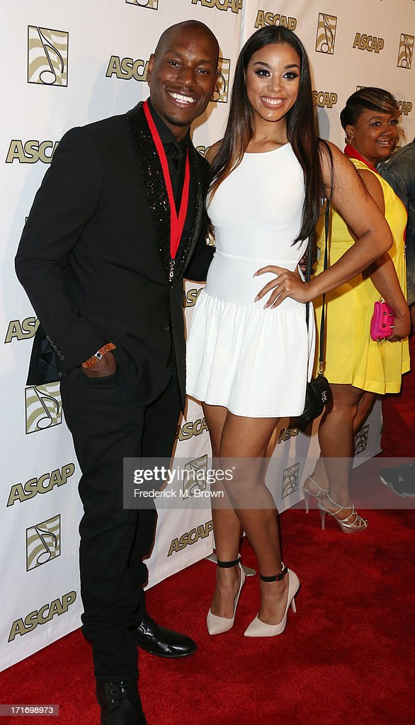 Actor/ recording artist Tyrese Gibson (L) and his guest attend The American Society of Composers, Authors and Publishers (ASCAP) 26th Annual Rhythm & Soul Music Awards at The Beverly Hilton Hotel on June 27, 2013 in Beverly Hills, California.