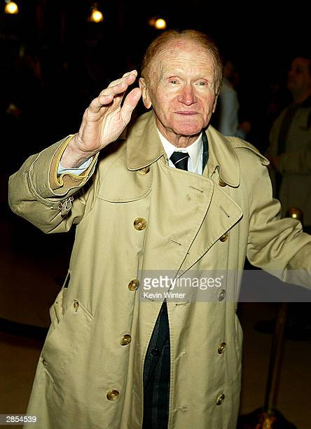 Actor Red Buttons arrives at the Los Angeles premiere of the stage production 'Chicago The Musical' on January 8 2004 at the Pantages Theatre in Los...