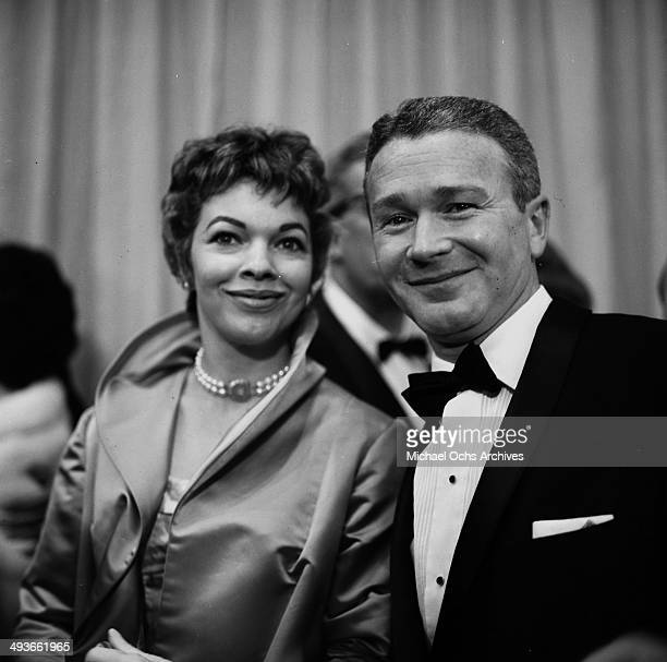 Actor Red Buttons with wife Helayne McNorton attend the Academy Awards in Los AngelesCalifornia