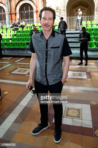 Actor Reda Kateb attends the Lanvin Menswear Spring/Summer 2016 show as part of Paris Fashion Week Held at 'Ecole Nationale Superieure des Beaux...