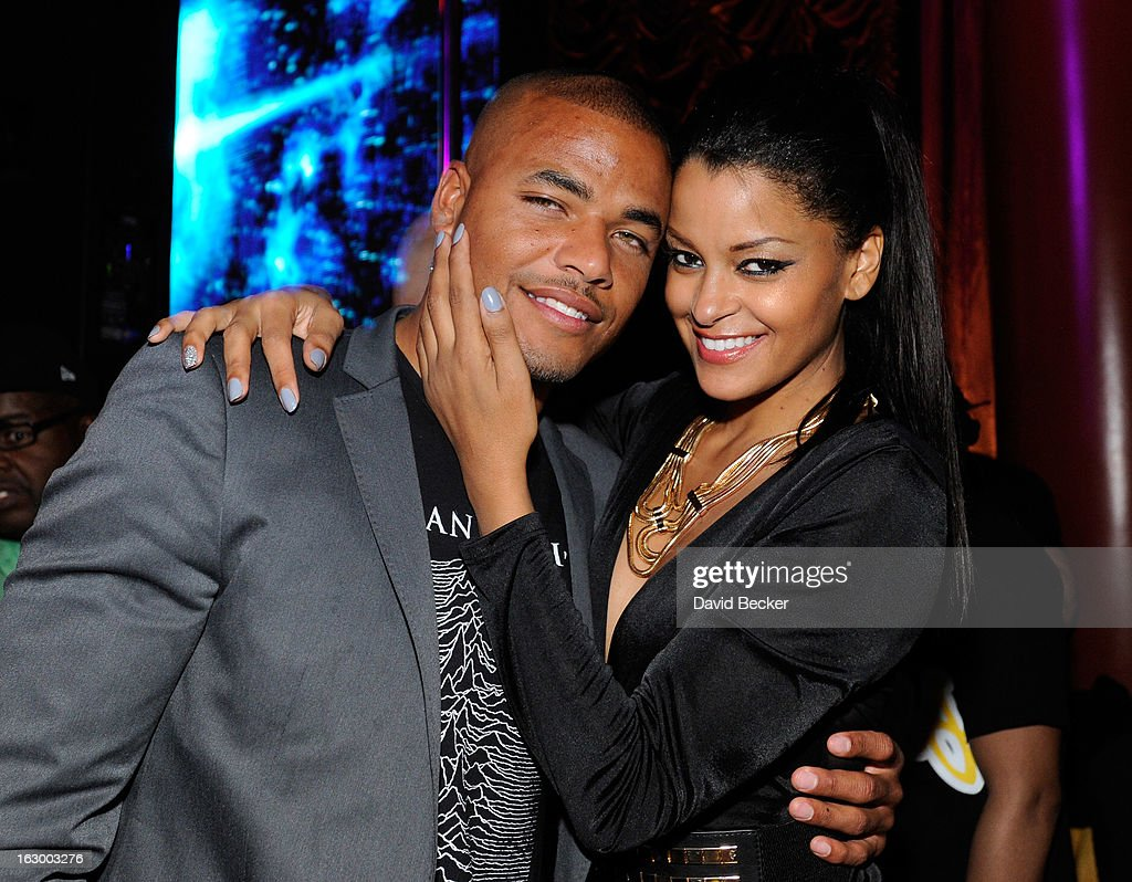 Actor Redaric Williams (L) and television personality Claudia Jordan appear at the Surrender Nightclub at Encore Las Vegas in celebration of the season premiere of 'All-Star Celebrity Apprentice' on March 2, 2013 in Las Vegas, Nevada.