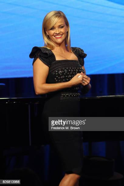 Actor Reese Witherspoon accepts the award for 'Outstanding Achievement in Movies Miniseries and Specials' for 'Big Little Lies' onstage at the 33rd...