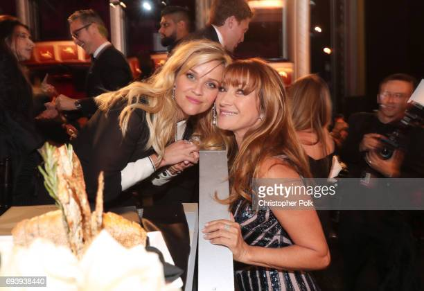 Actor Reese Witherspoon and Actor Jane Seymour during American Film Institute's 45th Life Achievement Award Gala Tribute to Diane Keaton at Dolby...