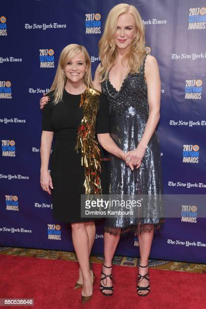 Actor Reese Witherspoon and Nicole Kidman attend IFP's 27th Annual Gotham Independent Film Awards on November 27 2017 in New York City