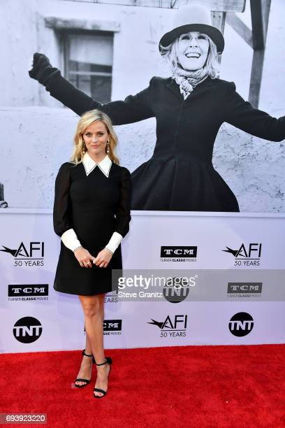 Actor Reese Witherspoon arrives at the AFI Life Achievement Award Gala Tribute to Diane Keaton at Dolby Theatre on June 8 2017 in Hollywood California