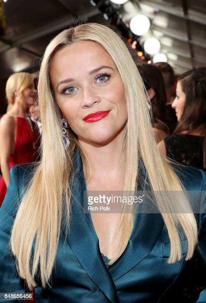 Actor Reese Witherspoon walks the red carpet during the 69th Annual Primetime Emmy Awards at Microsoft Theater on September 17 2017 in Los Angeles...
