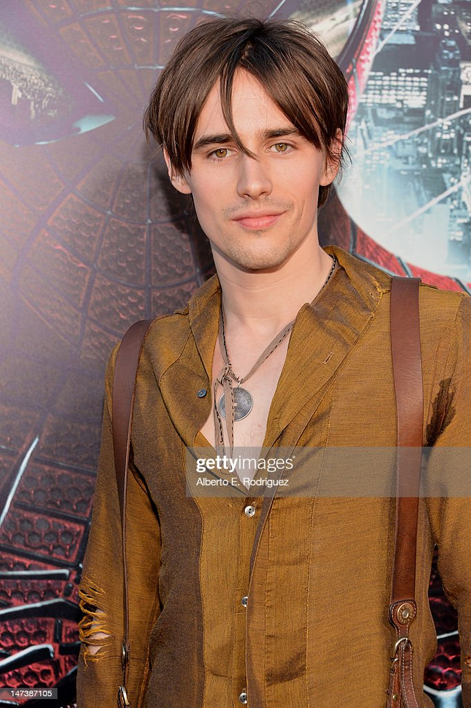 Actor <a gi-track='captionPersonalityLinkClicked' href=/galleries/search?phrase=Reeve+Carney&family=editorial&specificpeople=5312264 ng-click='$event.stopPropagation()'>Reeve Carney</a> arrives at the premiere of Columbia Pictures' 'The Amazing Spider-Man' at the Regency Village Theatre on June 28, 2012 in Westwood, California.