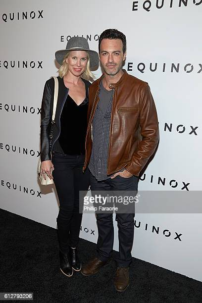 Actor Reid Scott and actress Elspeth Keller attend the Contemporary Art and Experiential Performance Exhibition Entitled The Body Spectacle at...