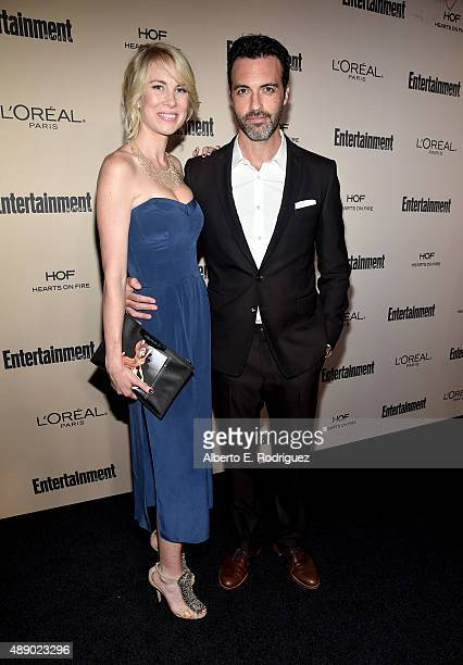 Actor Reid Scott and Elspeth Keller attend the 2015 Entertainment Weekly PreEmmy Party at Fig Olive Melrose Place on September 18 2015 in West...