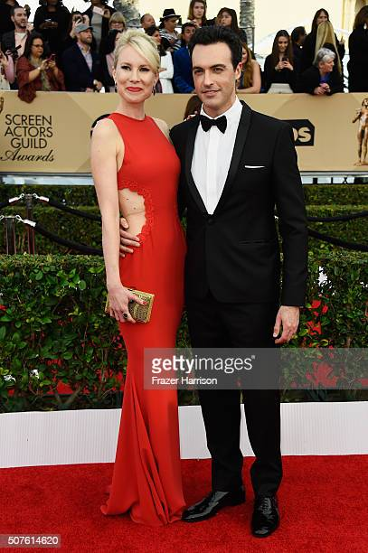 Actor Reid Scott and Elspeth Keller attend the 22nd Annual Screen Actors Guild Awards at The Shrine Auditorium on January 30 2016 in Los Angeles...