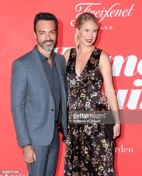 Actor Reid Scott and Elspeth Keller attend the premiere of Open Road Films' 'Home Again' at the Directors Guild of America on August 29 2017 in Los...