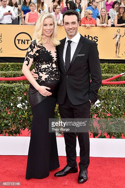 Actor Reid Scott and Elspeth Keller attend TNT's 21st Annual Screen Actors Guild Awards at The Shrine Auditorium on January 25 2015 in Los Angeles...