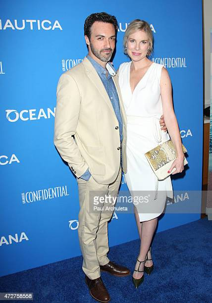 Actor Reid Scott and Elspeth Keller attends the 3rd annual 'Nautica Oceana Beach House Party' at Marion Davies Guest House on May 8 2015 in Santa...